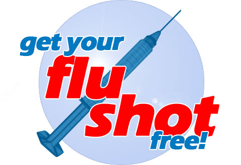 Free flu shots for students.