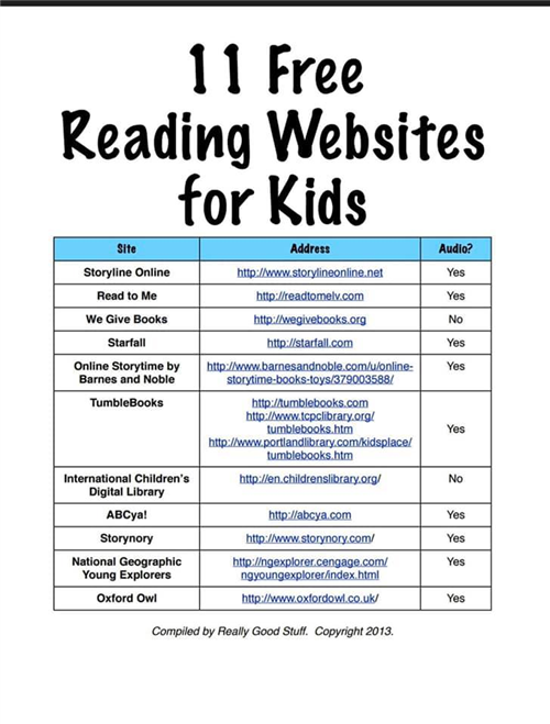 11 Free Reading Websites