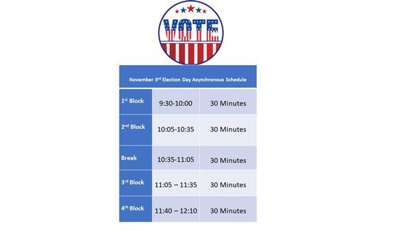 Election Day Schedule