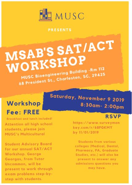 FREE ACT/SAT Workshop at MUSC