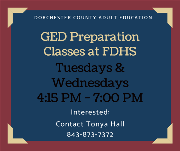 Did You Know FDHS offered GED Preparation?