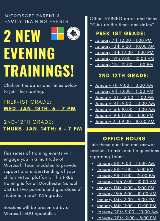 Microsoft Student and Parent Training