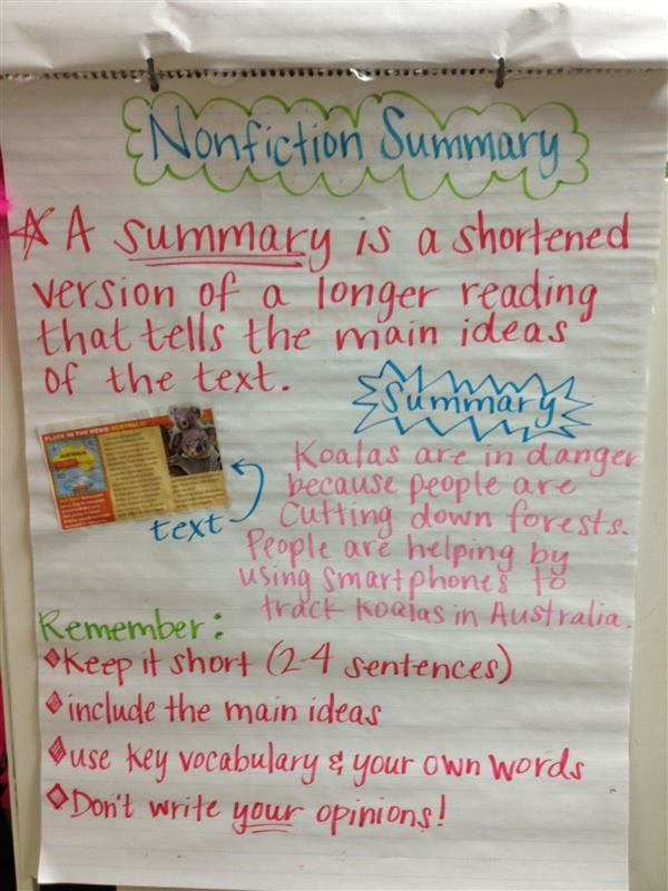 3G Magers ELA Resources Summarizing And Central Idea